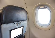 Sitz und Fenster auf Flugzeug Lizenzfreies Stockbild