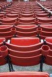 Sitze bei Fenway Park Lizenzfreie Stockfotos