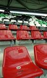 Sitze in einem Stadion 3 Stockbild