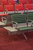 Sitze am Flughafen Stockfoto