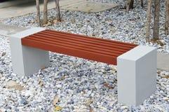 Sitze im Garten Stockfoto