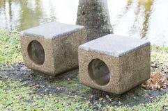 Sitze im Garten Lizenzfreies Stockfoto