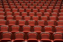 Sitze im leeren Theater Stockfotografie