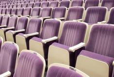 Sitze im Theater Stockbild