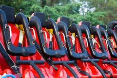 Sitze im Vergnügungspark Stockfotografie