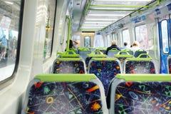 Sitze im Zug Lizenzfreie Stockbilder