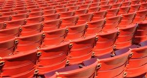 Sitze am Jahrtausend-Park Bandshell Stockfoto
