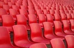 Sitze am Stadion Lizenzfreie Stockbilder