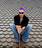 Sitzen auf Dach Lizenzfreie Stockfotos