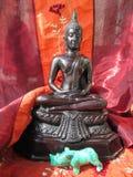 Sitzende Buddha-Abbildung Stockfoto