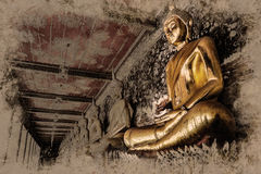 Sitzende Buddha-Abbildung Wat Arun, Temple of Dawn ist ein buddhistischer Tempel Lizenzfreie Stockfotos