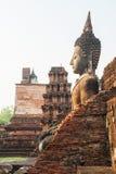 Sitzende Buddha-Skulptur Stockbilder