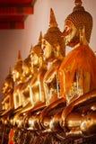 Sitzende Buddha-Statuen, Thailand Lizenzfreie Stockfotografie