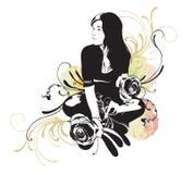 Sitzende Frau lizenzfreie abbildung