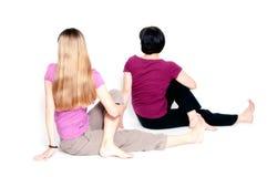Sitzende halbe spinale Torsion Stockfotografie