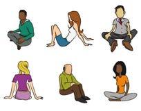 Sitzende Leute Stockfoto