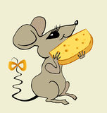 Sitzende Maus Stockfoto