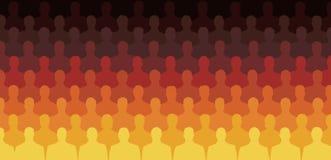Sitzende Schattenbild-Leute Lizenzfreie Stockfotos