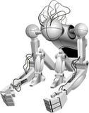 Sitzender Roboter Stockbilder