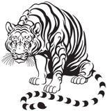 Sitzender Tiger Stockfotografie