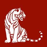 Sitzender Tiger lizenzfreie abbildung