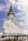 6 sitzendes Buddha statu Stockfotos