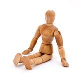 Sitzendes Mannequin Stockfoto