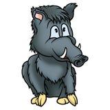 Sitzendes Wildschwein Stockfoto