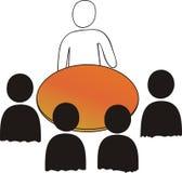 Sitzung: 5 Personen Stockfotos