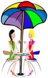 Sitzung der Doppelschwestern Lizenzfreies Stockfoto