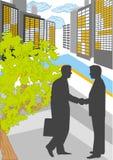 Sitzung der Geschäftsmänner in der Stadt Stockfoto