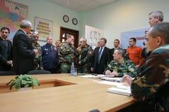 Sitzung der Militärführung Lizenzfreies Stockbild
