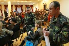 Sitzung der Militärführung Stockbild
