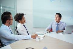 Sitzung mit Firma-CEO lizenzfreie stockbilder