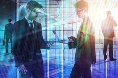 Sitzung, Teamwork, Vorrat und Bankwesenkonzept Lizenzfreies Stockbild