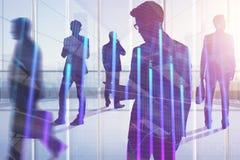 Sitzung, Teamwork, Vorrat und Investitionskonzept Stockbild