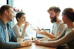 Sitzung von Analytikern lizenzfreies stockfoto