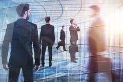 Sitzungs-, Teamwork- und Mengenkonzept lizenzfreies stockbild