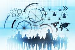 Sitzungs-, Teamwork- und Technologiekonzept stock abbildung