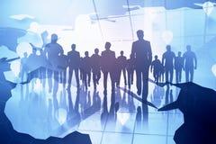 Sitzungs-, Teamwork- und Zukunftkonzept lizenzfreie stockfotografie