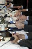 Sitzungshände 1 Stockfoto