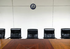 Sitzungssaal des Büros Stockbild