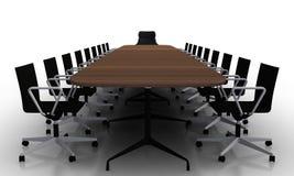 Sitzungssaaltabelle und -stühle Stockbild