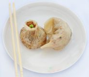 Siu mai和饺子 库存照片