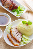 Siu Yuk or crispy roasted belly pork Royalty Free Stock Photography
