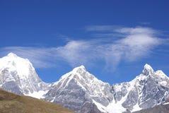 Siula, Yerupaja, Jirishanca  Cordillera Huayhuash Stock Photos