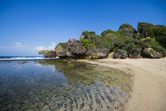 Siung海滩,日惹,印度尼西亚 库存图片