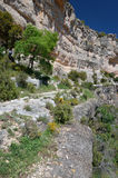 Siurana cliffs of Catalonia in spring Stock Photo