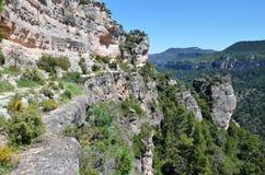 Siurana cliffs in the Prades mountains Stock Photo