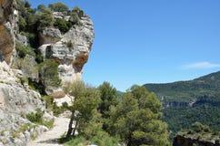 Siurana cliffs in the Prades mountains Royalty Free Stock Photos